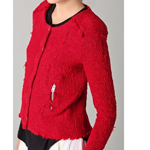 IRO Agnette Jacket in Rouge/Red Size 36/XS